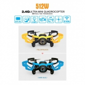 [512W] 2.4G 6 Axis Gyro 4CH Mini RC Quadcopter with Camera(FPV REAL-TIME)