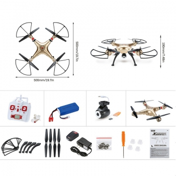 [SYMA X8HW] FPV RC Quadrocopter Drohne mit WIFI Kamera Headless Mode Altitude Hold Mode Barometer Hover Funktion