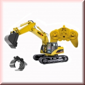 1:14 15 channel alloy remote control excavator +1570 scratch head